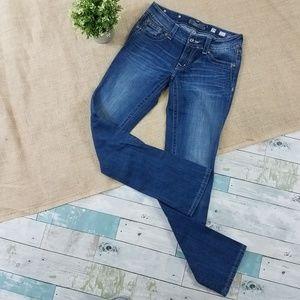 Miss Me Fleur De Lis Straight Low Rise Jeans 29